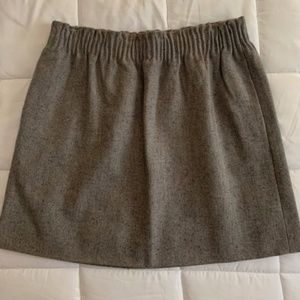 J. Crew Wool Pocketed Skirt